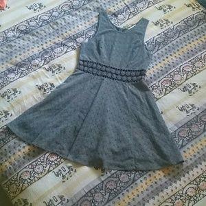 Free People // flirty grey dress